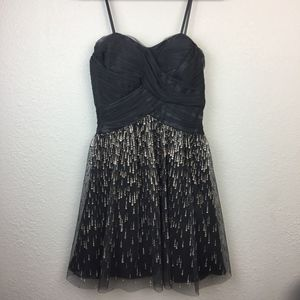 Cache Grey and Silver evening dress Size 4